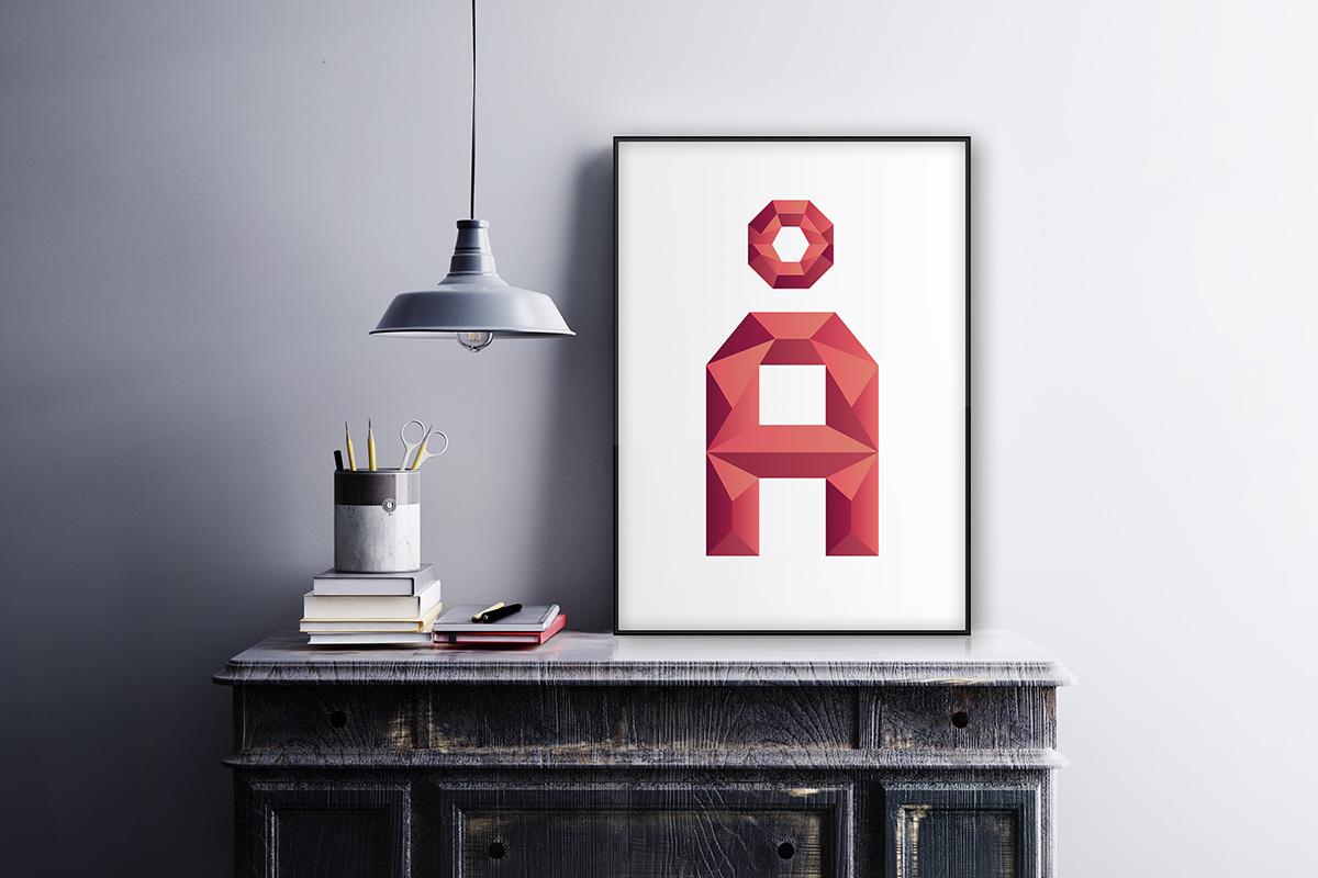 Onska Polygon Font Sample Use Poster