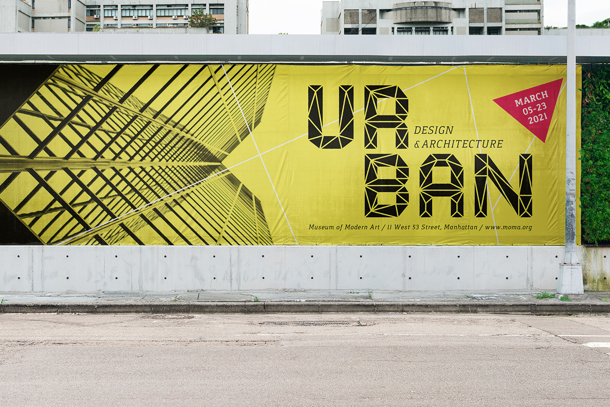 Onska Polygon Font Sample Use Billboard