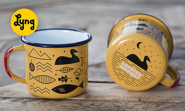 made by lyng - yellow mugs